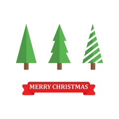 Merry Christmas and Happy New Year. Vector icon illustration Flat design