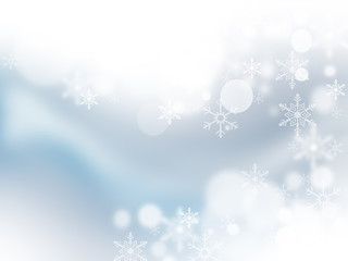 eautiful Soft Blue Christmas Background With Snowflakes