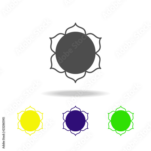 Buddhism Lotus Flower Sign Multicolored Icon Detailed Buddhism