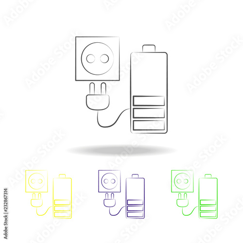 Charger multicolored icons  Element of electrical devices