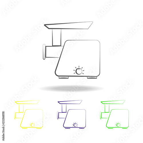 meat grinder multicolored icons  Element of electrical devices