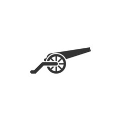 Cannon, war, weapon icon vector image. Can also be used for objects. Suitable for use on web apps, mobile apps and print media.