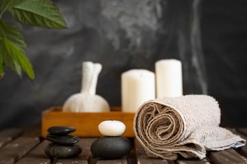 spa wellness objects arrangement
