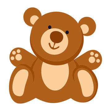 Soft toy. Teddy bear line icon. Vector illustration. EPS 10. Toy.