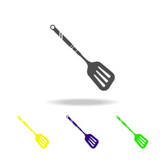 shovel for frying potatoes multicolored icon. Element of kitchenware multicolored icon. Signs, outline symbols collection icon can be used for web, logo, mobile app, UI, UX