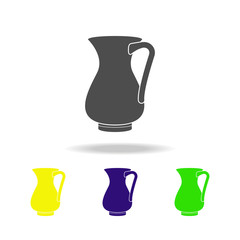 jug of milk multicolored icon. Element of kitchenware multicolored icon. Signs, outline symbols collection icon can be used for web, logo, mobile app, UI, UX