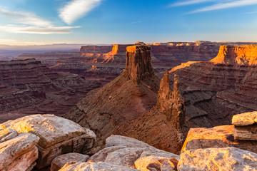 Marlboro Point Ledge and Shafer Canyon Sunrise