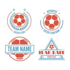 Set of Football or soccer Club Logo Set Vector Template Design