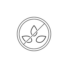 100% natural icon. Element of GMA icon for mobile concept and web apps. Thin line 100% natural icon can be used for web and mobile