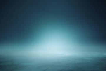Illuminated blue background