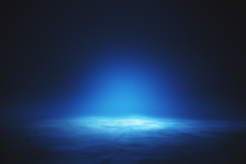 Illuminated blue wallpaper