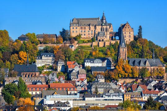 Marburg historical medieval Old Town, Germany