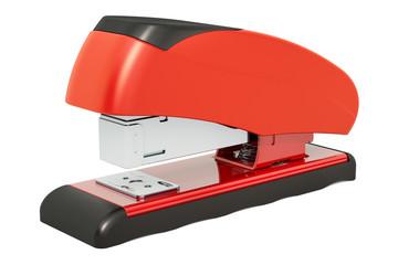 Red stapler, 3D rendering