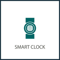 Smartwatch vector icon isolated on transparent background, Smartwatch transparency logo concept