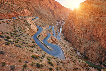 Papiers peints Maroc Dades Gorge is a gorge of Dades River in Atlas Mountains in Morocco.