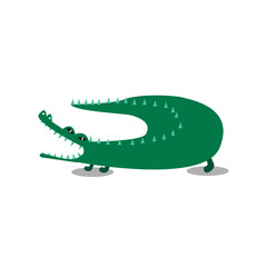 Cute wiid crocodile cartoon illustration