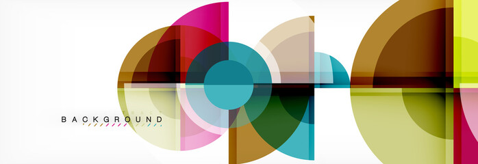 Obraz Abstract background bright circles geometric design - fototapety do salonu