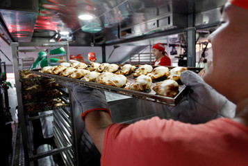 Argentine chefs cook up thousands of empanadas in an attempt to enter the Guinness World Records for the largest number of pizzas and empanadas prepared in 12 hours by a team, in Buenos Aires