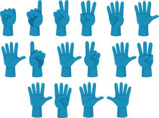 Human count number hand gesture