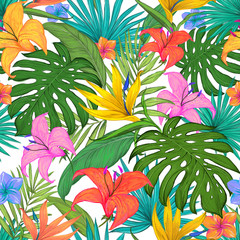 Tropical Leaves Pattern By Repic Design