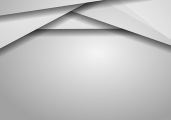 Gray hexagon abstract vector background with copy space