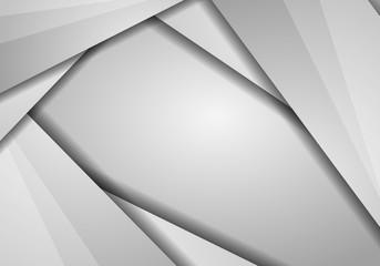 Vector metal background surface illustration for web design - Modern lighted silver vector background illustration