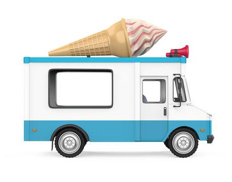 Ice Cream Truck Isolated