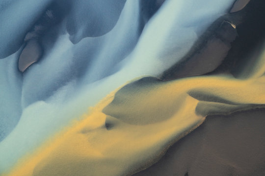 Abstract pattern of Icelandic landscape