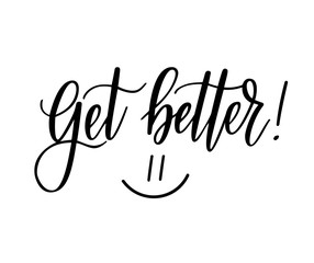 Get better vector motivational nice postcard lettering