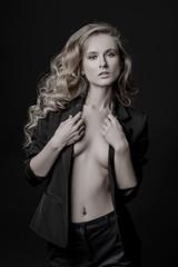 Foto op Canvas Akt female fashion model
