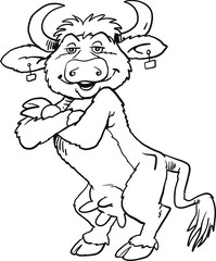 Smiling cow mascot