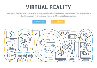 Linear Banner of the Virtual Reality.
