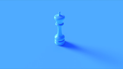 Blue Chess King Piece 3d illustration 3d rendering