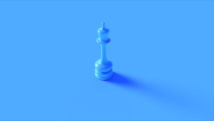 Blue Chess Queen Piece 3d illustration 3d rendering