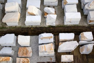 Deposit of marble blocks