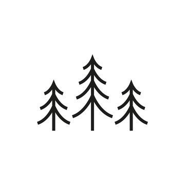 Tree icon. Fir symbol. Vector illustration.