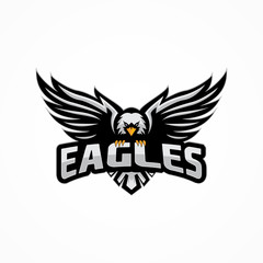 sport eagle logo template