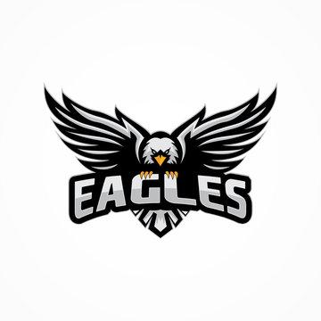 sport eagle logo template