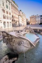 The Barcaccia Rome fountain