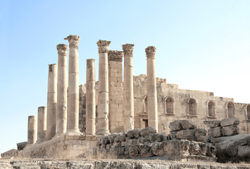 Temple of Zeus in Jerash, Jordan