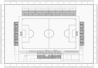 football field Architect Blueprint