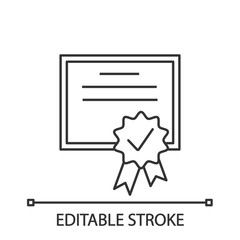 Certificate linear icon