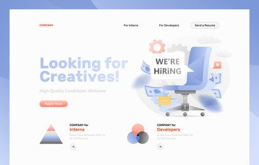 Looking for Creatives Web Page