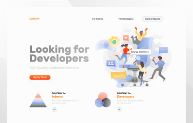 Looking for Developers Web Page