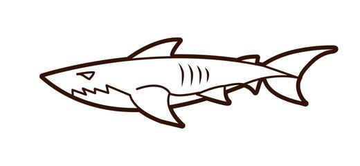 Shark swim graphic vector