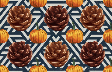 Pinecones and pumpkins