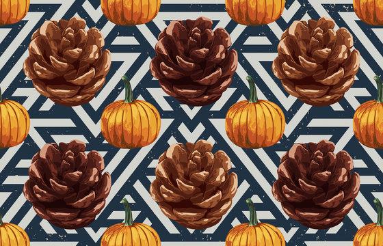 Pinecones and pumpkins
