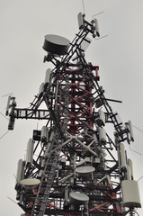 Tower transmitters. Metal construction.