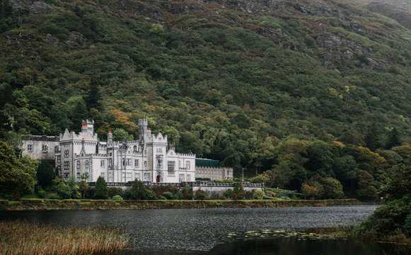 Kylemore Abbey, County Galway, Ireland.