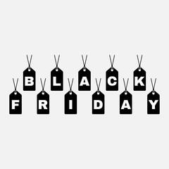 Black friday icon. Black friday symbol. Flat design. Stock - Vector illustration.